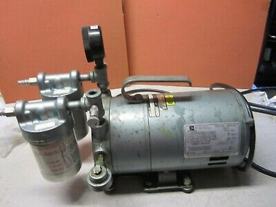 Gast 0522-v4b-g18dx Rotary Vane Vacuum Pump For Parts