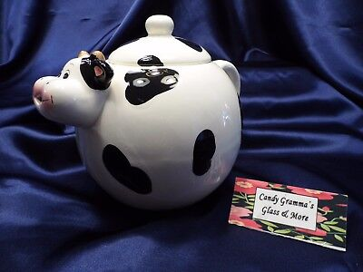 DAIRY COW Ceramic Teapot Black and White ()