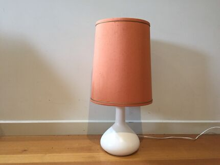 Lamp with vintage shade