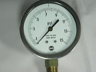 Pressure Gauge 157403 4 0-15 Psi 12 Lmc