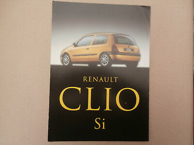 Renault Clio Si  brochure..  nr MINT condition.