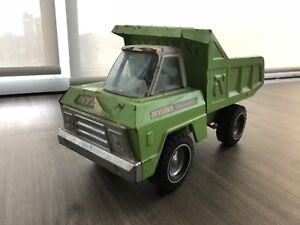 60's NYLINT vintage pressed steel toy truck with hydraulic!