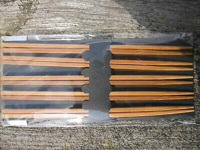 5 Paar Essstäbchen Chinesische Stäbchen Chopsticks Bambus Set Sushi Natur Stäbchen