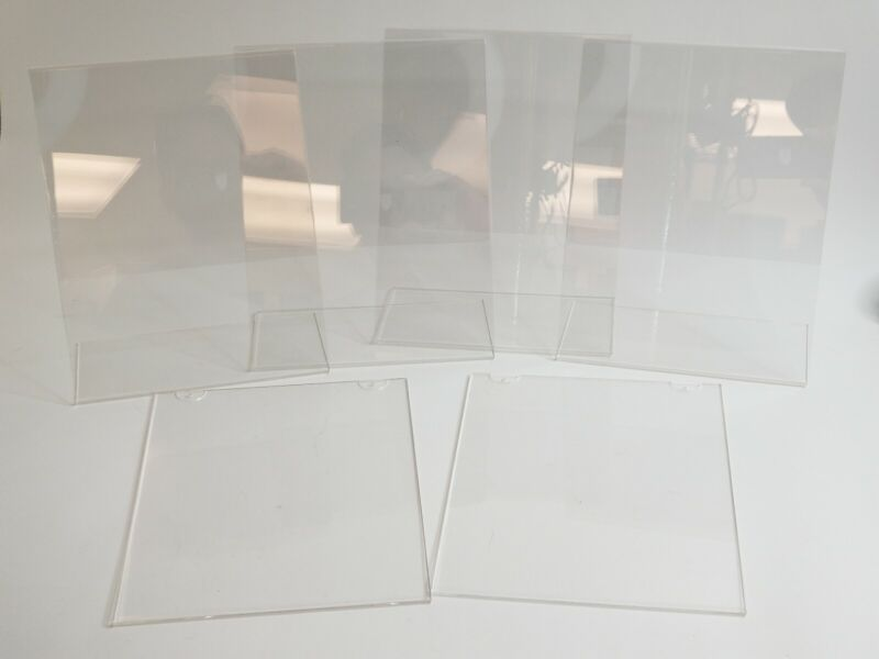 8.5 x 11 Clear Acrylic Slanted & Wall Mounted Sign Holder Displays -Combo Pack 6