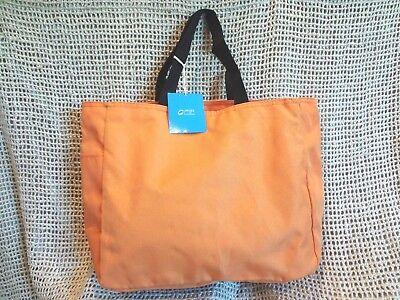 PORT & CO Women's Nylon Tote Bag~Travel Beach School Work Baby Diapers ~ ORANGE