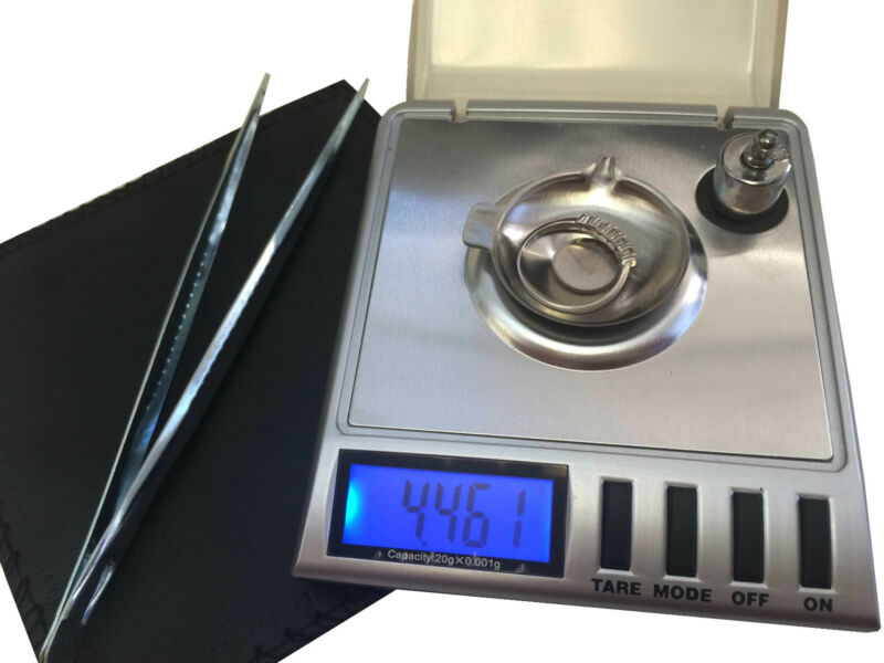 GEMINI  20 x 0.001G DIGITAL SCALE GRAM CARAT GRAIN RELOAD JEWELRY MILLIGRAM