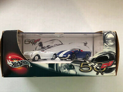 Corvette 50 Years Rel 2 2 Car Set Hot Wheels Collectibles Limited Edition