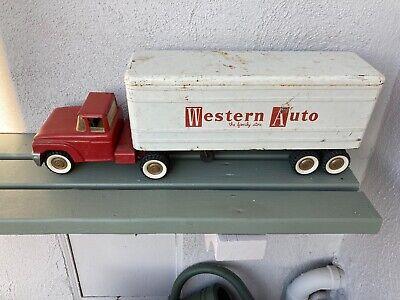 1963 Structo Western Auto Semi Trailer Truck Pressed Steel