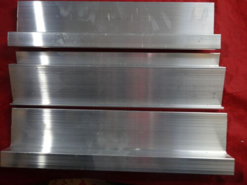 """ALUMINUM BRACKET Z+1 ANGLE  3 PIECES 12"""" IN LENGTH"""