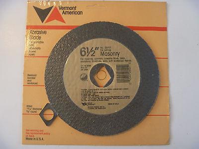 "Vermont American 28001 6-1/2"" Abrasive cut off Wheels Masonry & Concrete USA"