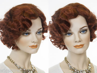 Stunning Finger Wavy Style Short Skin Top Costume Wigs 1920's flapper - 1920s Style Wigs
