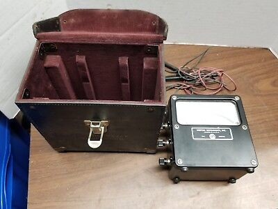 Weston Volts Ac 300 Volt Meter In Hard Leather Casew Probes