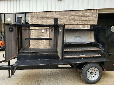 Pro Santa Maria Bbq Grill 60 Mobile Smoker Trailer Pitmaster Food Truck Vending