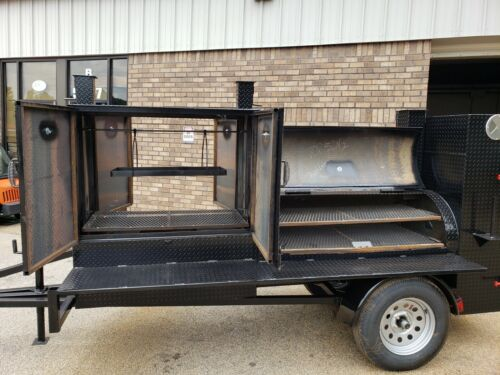 Pro Santa Maria 48 Grill Mobile BBQ Smoker Trailer Pitmaster Food Truck Vending
