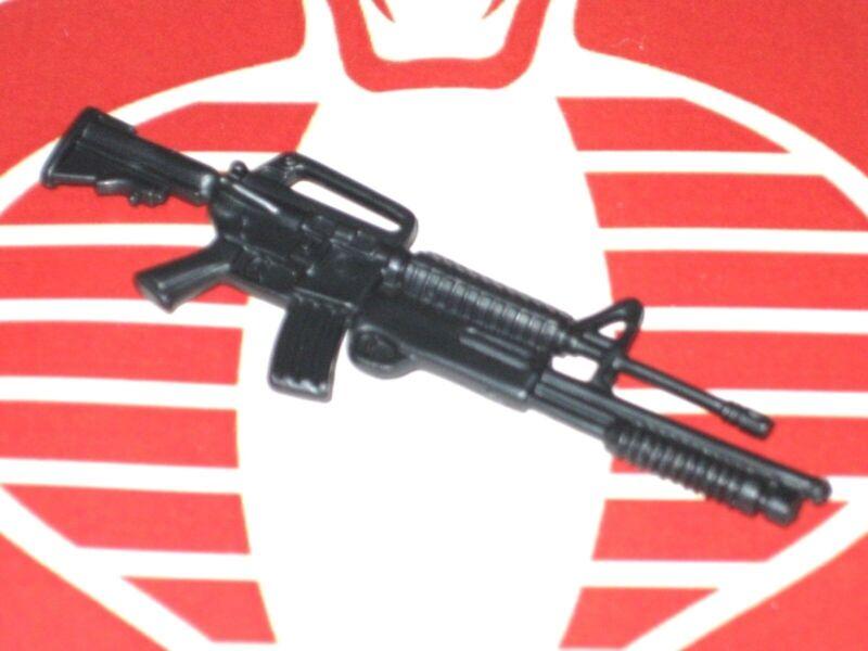 GI Joe Weapon Ripper Switch Gears M16 Shotgun Graphite Blue 2002 Accessory