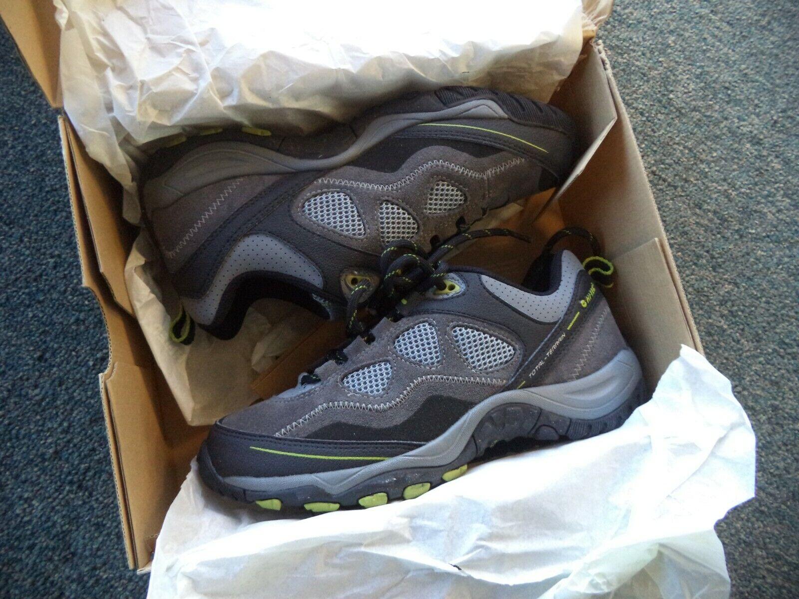 HI-TEC Total Terrain Sprint Gray Hiking Trail Men's Shoes Sz