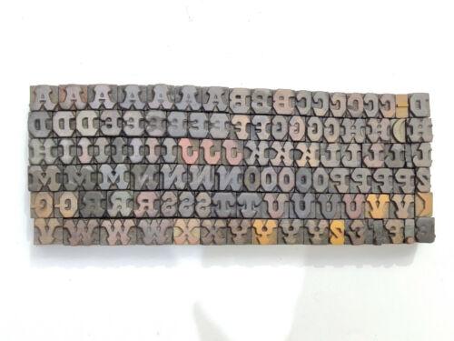 Vintage Letterpress wood/wooden printing type block typography 108 pc20mm#LB125