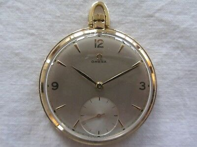 Omega Gold Pocket Watch 14 ct 14 K Antique Collectable Mechanical
