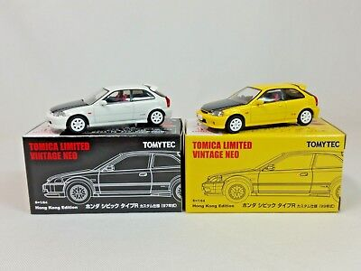 1:64 Tomytec Tomica Limited Vintage Neo Honda Civic Type R EK9 99 97 Hong Kong 2