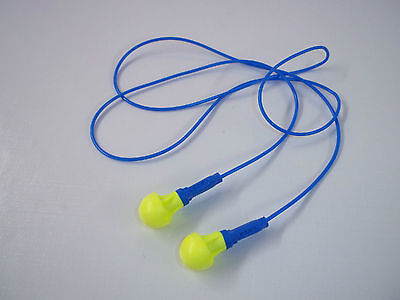 3 Pairs Earplugs 3m Push-ins Corded Earplug Hearing Conservation In Poly Bag