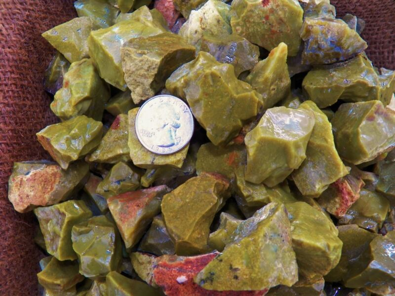 500 Carat Lots of Green Opal Rough - Plus a FREE Faceted Gemstone