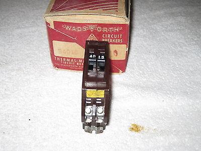 Wadsworth Circuit Breaker B1540 15 40 Twin 2p Type B Metal Tabs B21540