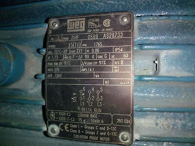 Weg 575v 15 Hp Explosion Proof Motor