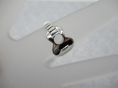 Acoustic Guitar Ring - 925 Sterling Silver - Music Jewelry - Mens Jewelry (Mens Guitar Ring)