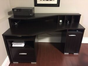 3 piece office set (desk, small file cabinet and bookcase)