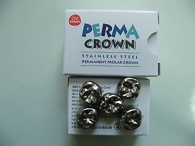 5PCS: Stainless Steel Permanent Molar Crowns Refill compatIble 3M ESPE