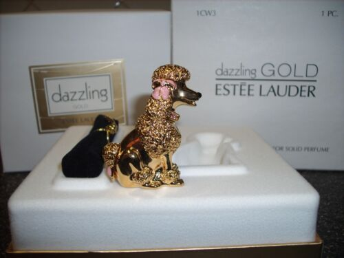 "Estee Lauder Solid Perfume Compact ""Poodle"" MIB"
