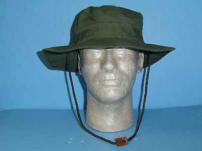 B6239-60  Vietnam Dark OD Poplin Boonie Hat  size 60 / 7 1/2 W2D