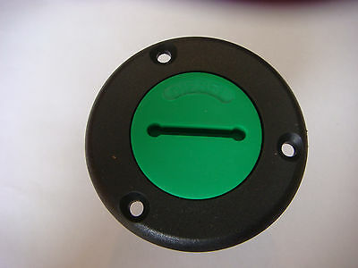 "NEW Diesel Deck Filler PLASTIC 1 1/2"" for Hose Filler NOS Green Cap"