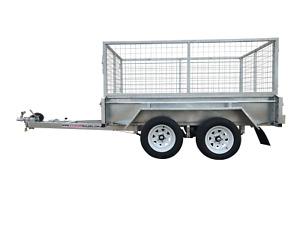 8x5 Dual Axle 2000kg  Galvanised Box Trailer with 800mm Cage & 400mm Sides $46p/w  Garbutt Townsville City Preview