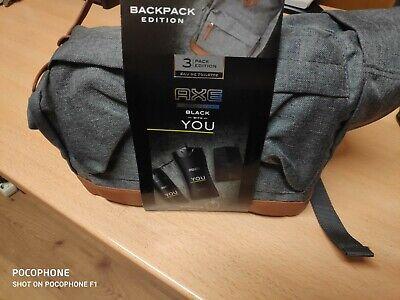 Pack Axe. Mochila+gel+colonia+desodorante You