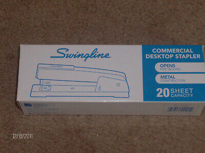 Swingline Desk Stapler Commercial 20 Sheets Capacity Black Brand New Stapler