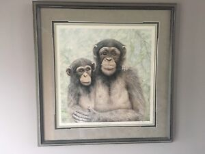 Jan Bain Chimpanzee Print