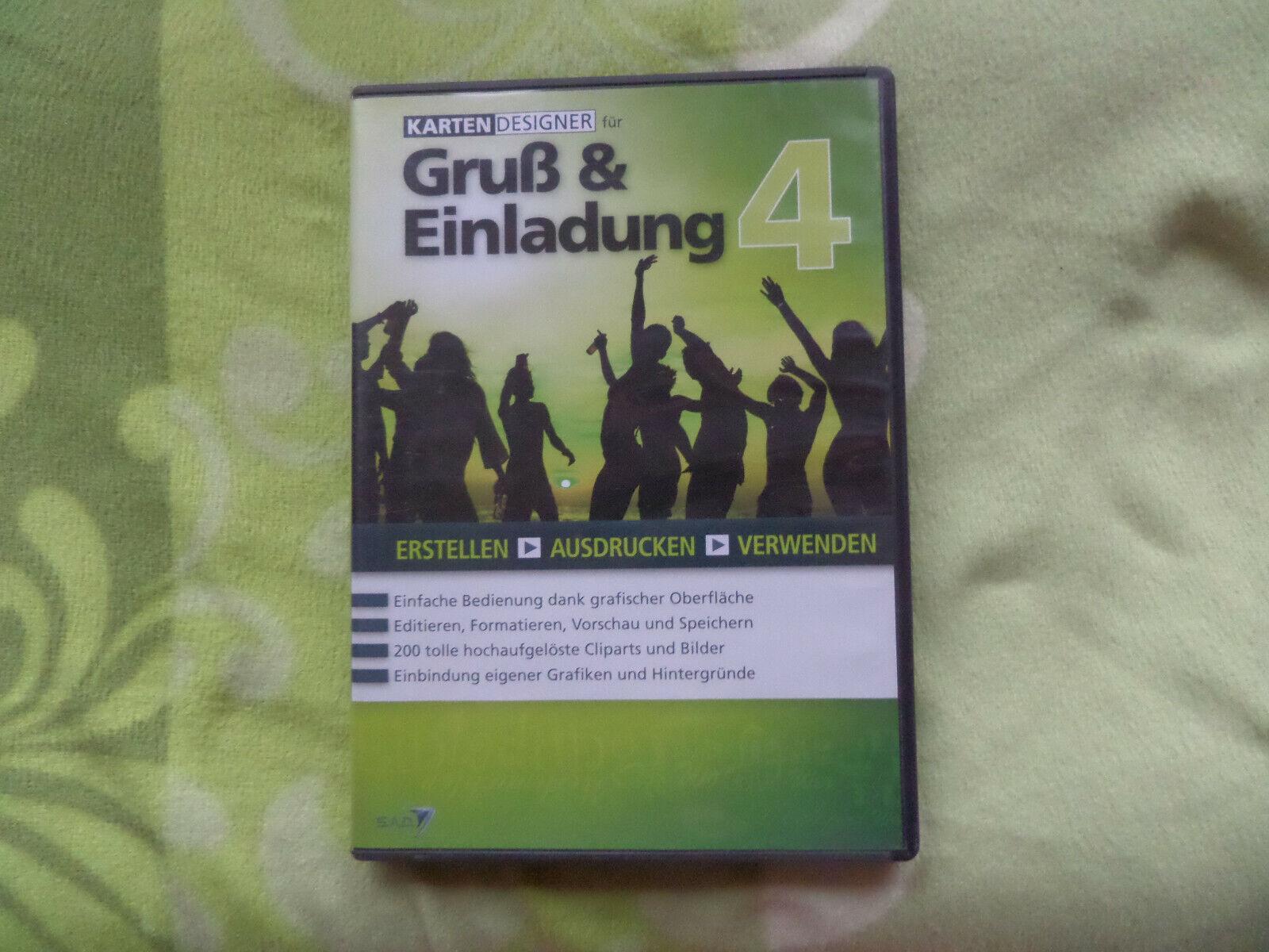 Karten Designer Gruß und Einladung 4 SAD PC Gruß und Einladungskarten CD