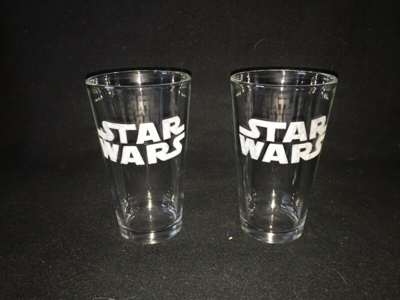 Star Wars Hand Etched (with a Dremel) Pint Glasses!