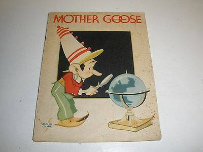1935 1st Edition Book Mother Goose As Told By Kellogg's Singing Lady Kellogg Co.