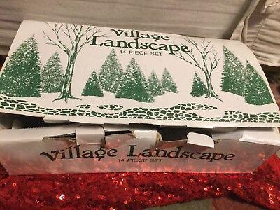 Department 56 Village Landscape Sisal/ Bare**14 Pc Set TREES ** READ DESCRIPTION
