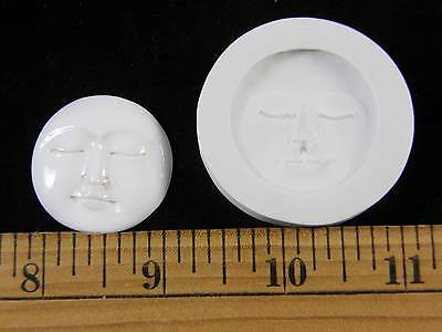 Moon Face (Large) Polymer Clay Mold (#MD1303)