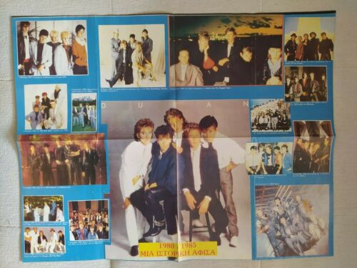 DURAN DURAN Vintage Poster History 1980-1985 Synth Pop 80s Greek Press