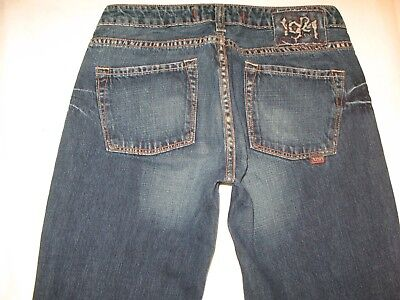 1921 Womens Bootcut Jeans Sz 28 -fits like a Sz 26  100% Cotton Dark  1921 Jeans Cotton Jeans