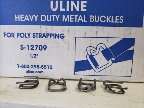 "Uline Heavy Duty Metal Buckles for Poly Strapping 1/2"" - Lot of 50 pcs"