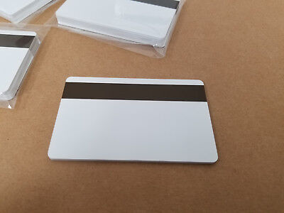 10 White Loco Mag Pvc Cards Cr80 .30 Mil 3 Track Magnetic Stripe Usa Shipping