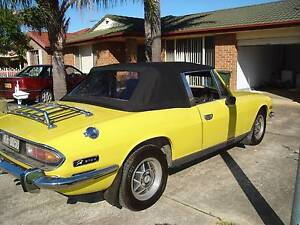 TRIUMPH STAG 1971 - 1977 BLACK STAYFAST  SOFT TOP Oakhurst Blacktown Area Preview