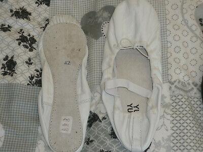 Ballettschuhe Leder Gr. 42 - Weiße Ballettschuhe