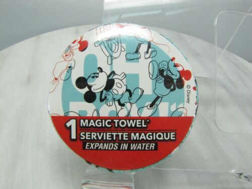 """Disney MICKEY MAGIC TOWEL  Expands In Water  SEALED  Expands to 11.5"""" x 11.5"""""""