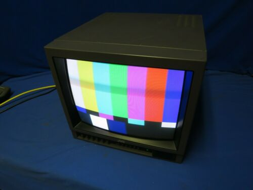"""JVC TM-1400SU 14"""" Analog Composite Color Monitor w/ clear screen"""